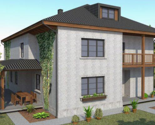 Загородный жилой односемейный дом