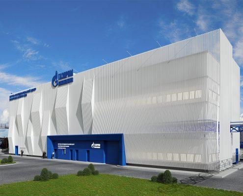 Здание «Центра исследований и разработок» на базе существующего здания «Исследовательской лаборатории» АО «Газпромнефть МЗСМ»